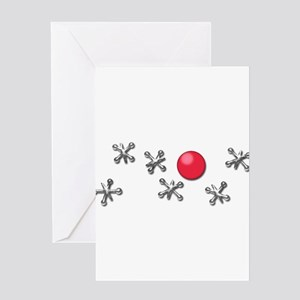 Old Fashioned Ball and Jacks Game Greeting Cards
