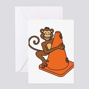 Cone Monkey Greeting Cards