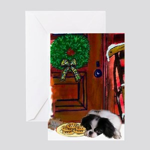 Japanese Chin Christmas Greeting Card