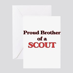 Proud Brother of a Scout Greeting Cards