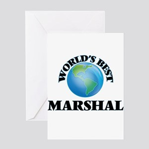 World's Best Marshal Greeting Cards