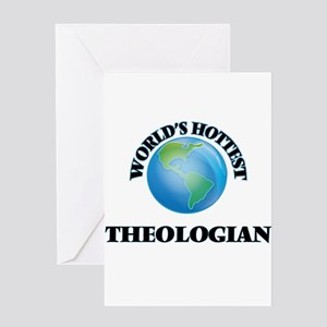 World's Hottest Theologian Greeting Cards