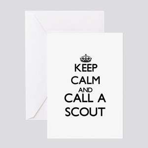 Keep calm and call a Scout Greeting Cards