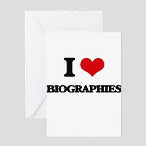 I Love Biographies Greeting Cards