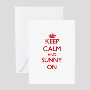 Keep Calm and Sunny ON Greeting Cards