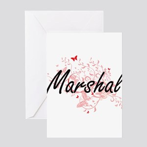 Marshal Artistic Job Design with Bu Greeting Cards