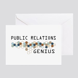 Public Relations Genius Greeting Card