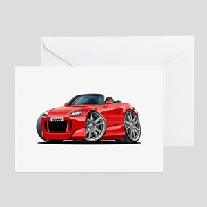 s2000 Red Car Greeting Card
