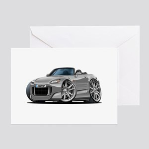 s2000 Silver Car Greeting Card
