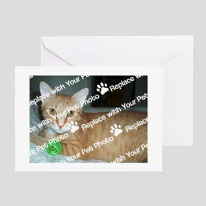 CUSTOMIZE With Your Pet Photo Greeting Cards