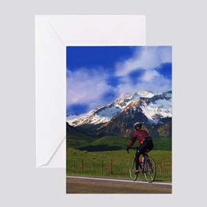 Cycling_the_Rockies Greeting Card