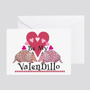 Armadillo Valentine's Day Greeting Card