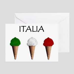 Gelati Italiani Greeting Cards