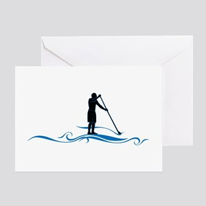 Stand Up Paddle-Waves Greeting Cards