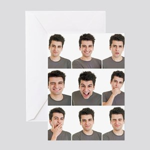 Man face expressions Greeting Card