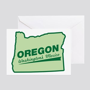 oregon - washington's mexico Greeting Card