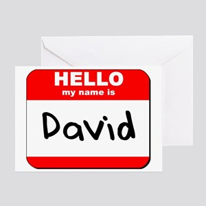 Hello my name is David Greeting Card