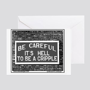 RR-HELL TO BE CRIPPLE -mousepad Greeting Card