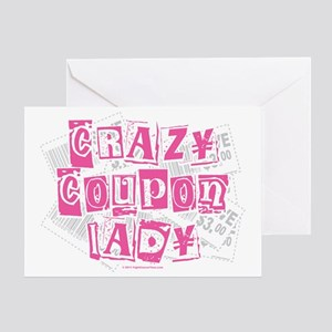 Crazy-Coupon-Lady Greeting Card