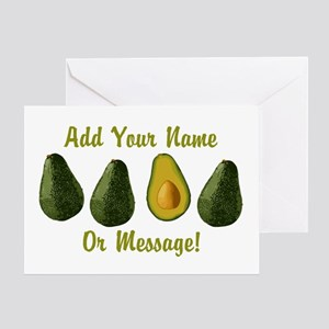 PERSONALIZED Avocados Graphic Greeting Cards