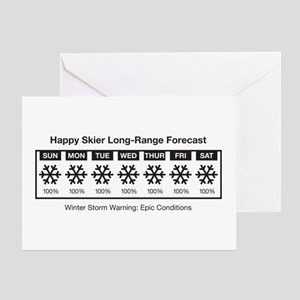 Happy Skier Forecast Greeting Card