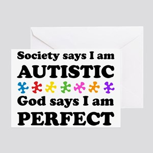 Autistic=Perfect Greeting Card
