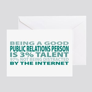 Good Public Relations Person Greeting Card