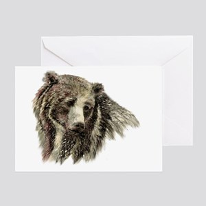 Watercolor Grizzly Bear Animal Greeting Cards
