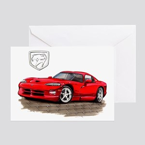Viper Red Car Greeting Card