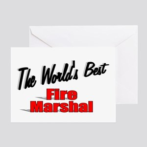"""The World's Best Fire Marshal"" Greeting Card"