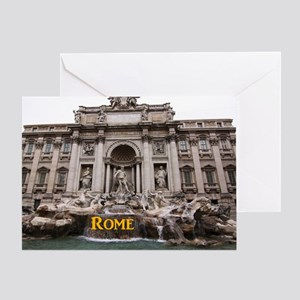 Rome_11x9_TreviFountain Greeting Card