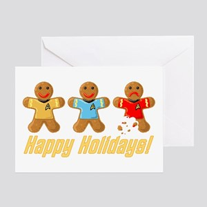 Star Trek Gingerbread Men Greeting Cards