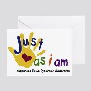 just as I am down Greeting Card