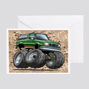 95_Green_EB_Bronco Greeting Card