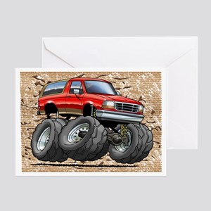 95_Red_EB_Bronco Greeting Card