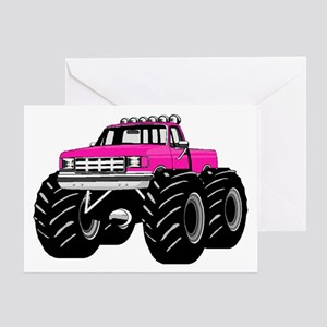 Pink MONSTER Truck Greeting Card