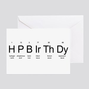 Periodic Table Birthday Greeting Cards