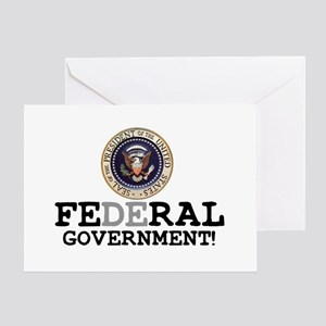 FERAL GOVERNMENT Greeting Card