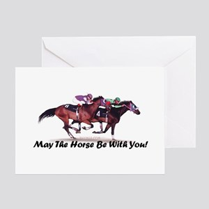 May The Horse Be With You Greeting Card