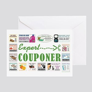EXPERT COUPONER Greeting Card