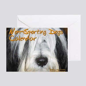 Non-Sporting Dogs CALENDAR Greeting Card