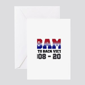 Obama Back to Back Victory Greeting Card