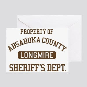 Property Of Absaroka County Greeting Card