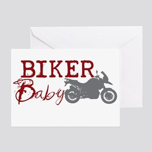 Biker Baby Greeting Card