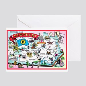 Kentucky Map Greetings Greeting Card