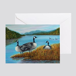 Canada Geese at Lake Lure Greeting Card