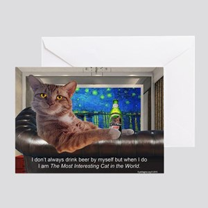 Most Interesting Cat Greeting Card