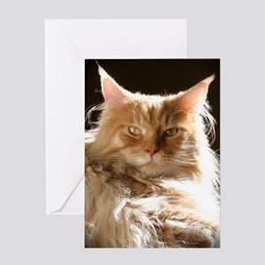 leo-onblack Greeting Card