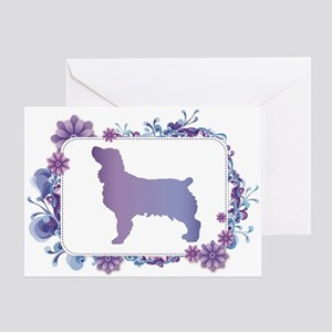 Periwinkle Blue Floral Boykin Greeting Cards