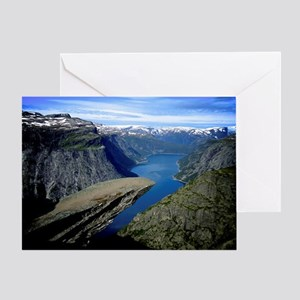 Trolltunga (Troll toungue) Greeting Card